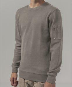 Tricou bomber cu maneca lunga Interlock nisip Urban Classics - Bluze cu guler rotund - Urban Classics>Barbati>Bluze cu guler rotund