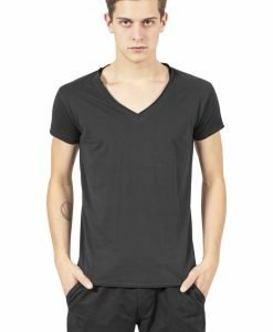 Tricou casual fitted cu decolteu in V negru Urban Classics - Tricouri urban - Urban Classics>Barbati>Tricouri urban