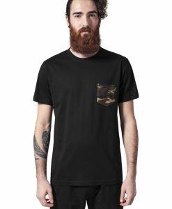 Tricou cu buzunar Camo negru-camuflaj Urban Classics - Tricouri urban - Urban Classics>Barbati>Tricouri urban