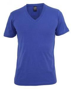 Tricou cu decolteu in V Basic albastru roial Urban Classics - Tricouri urban - Urban Classics>Barbati>Tricouri urban