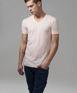 Tricou cu decolteu in V Basic roz Urban Classics - Tricouri urban - Urban Classics>Barbati>Tricouri urban