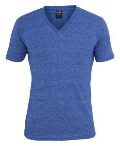 Tricou cu decolteu in V Melange albastru Urban Classics - Tricouri urban - Urban Classics>Barbati>Tricouri urban