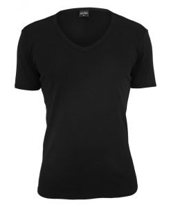 Tricou cu decolteu in V Slim 1by1 negru Urban Classics - Tricouri urban - Urban Classics>Barbati>Tricouri urban