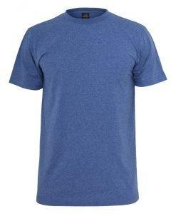 Tricou cu guler rotund Melange albastru Urban Classics - Tricouri urban - Urban Classics>Barbati>Tricouri urban