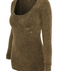 Tricou cu maneca lunga stoned - Tricouri urban - Urban Classics>Femei>Tricouri urban
