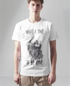 Tricou cu texte What a time - Tricouri cu mesaje - Mister Tee>Regular>Tricouri cu mesaje