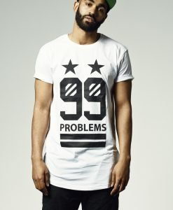 Tricou hip hop lung 99 Stars alb Mister Tee - Tricouri largi cu mesaje - Mister Tee>Regular>Tricouri largi cu mesaje