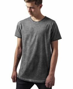 Tricou lung simplu Cold Dye gri inchis Urban Classics - Tricouri lungi - Urban Classics>Barbati>Tricouri lungi