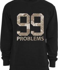 Tricou maneca lunga camuflaj 99 Problems Desert negru Mister Tee - Bluze cu mesaje - Mister Tee>Regular>Bluze cu mesaje