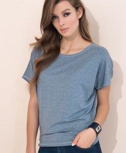 Tricou monocromatic Zafira Grey - Haine si accesorii - Tricouri maiouri tunici si pulovere