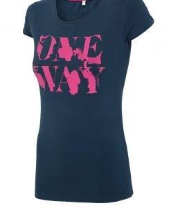 Tricou sport de dama 4f OneWay Navy - Haine si accesorii - Trcouri maiouri