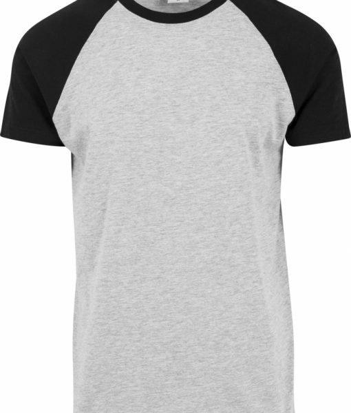Tricouri casual in doua culori pentru barbati gri-negru Urban Classics – Barbati – Urban Classics>Colectie noua>Barbati