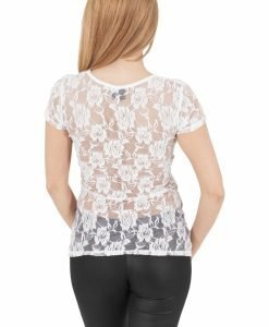 Tricouri cu dantela la spate alb-alb murdar Urban Classics - Tricouri urban - Urban Classics>Femei>Tricouri urban