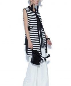 Vesta lunga cu dungi contrastante Dungi - Imbracaminte - Imbracaminte / Veste