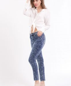Blugi Cheap Monday Dropped Tobi Blue - FEMEI - JEANS DAMA