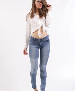 Blugi Cheap Monday Patch Blue - FEMEI - JEANS DAMA