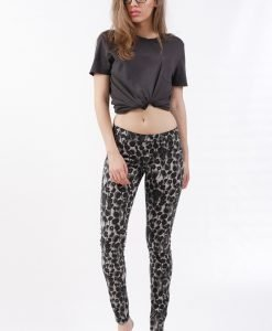 Blugi Cheap Monday Slim Trash Leopard - FEMEI - JEANS DAMA