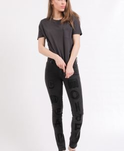Blugi Cheap Monday Tight Letters Flock - FEMEI - JEANS DAMA