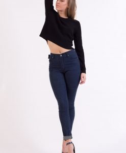 Bluza &Other Stories Crop Black - FEMEI - BLUZE