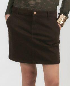 Fusta H&M jeans maro - FEMEI - FUSTE