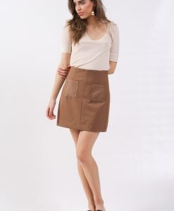 Fusta Monki Mini Beige - 25% OFF - 25% OFF