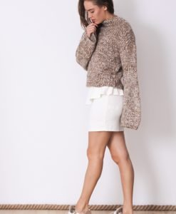 Fusta Reserved White - 50% OFF - 50% OFF