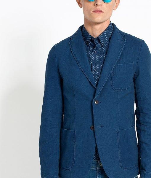 Hilfiger Denim – Sacou Dobby Linen Blazer 31 – Îmbrăcăminte – Sacouri si costume