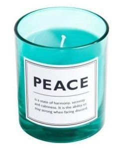 Lumanare verde Peace - FEMEI - ACCESORII