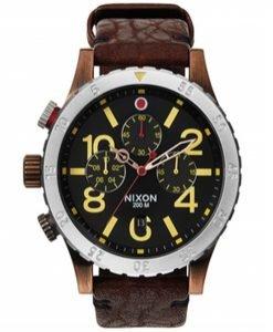 Nixon - Ceas Chrono Leather Antique Copper - Accesorii - Ceasuri