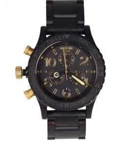 Nixon - Ceas Chrono Matte Black/Gold - Accesorii - Ceasuri