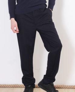 Pantaloni COS Navy Black pentru barbati - BARBATI - PANTALONI BARBATI