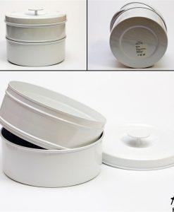 Recipient metalic alb - FEMEI - ACCESORII