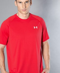 Under Armour - Tricou Ua Tech SS Tee-Red Wht - Îmbrăcăminte - Tricouri